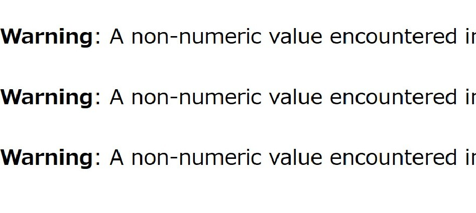 warning a non-numeric vale