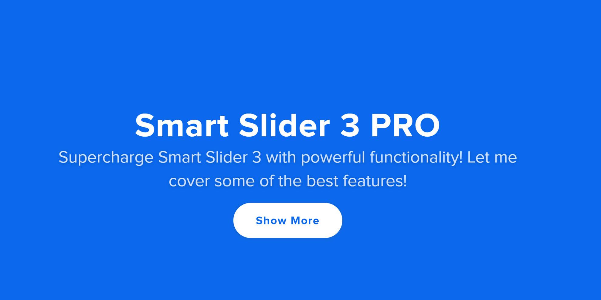 Smart Slider 3 PRO テンプレート