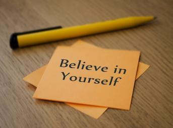 自分を信じること