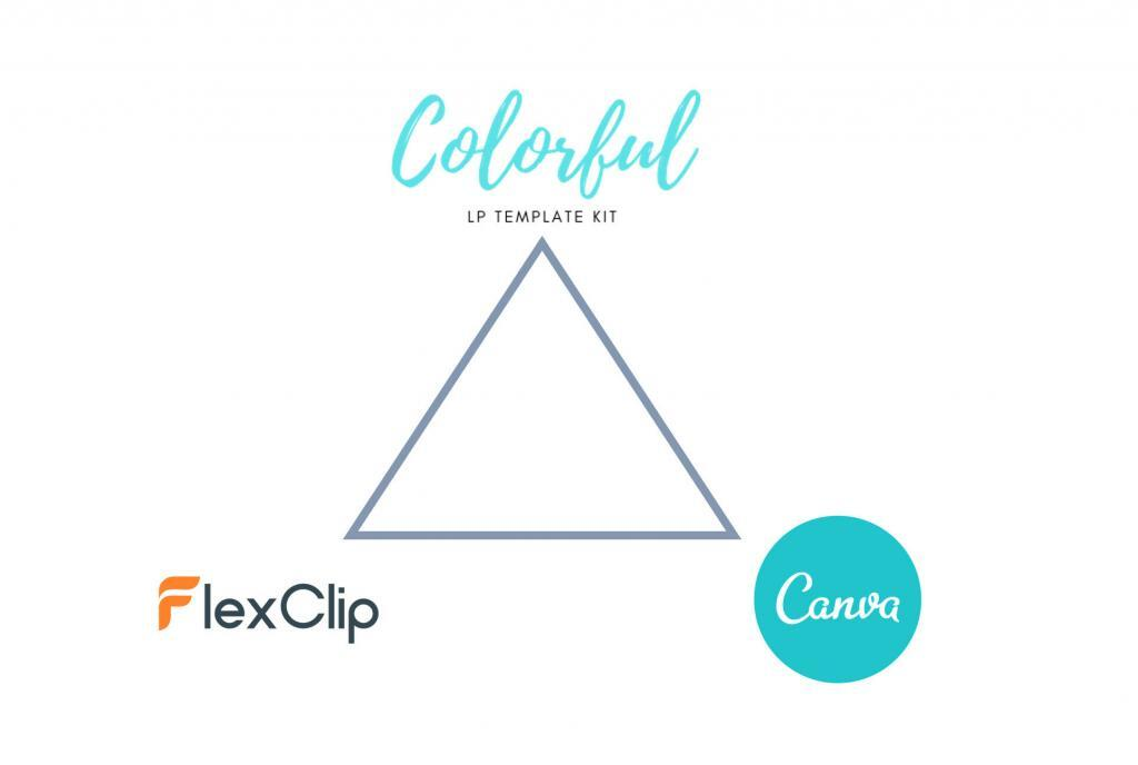 COLORFUL・FlexClip・Canva